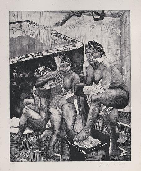 "Bild ""Badende"" (1970)"