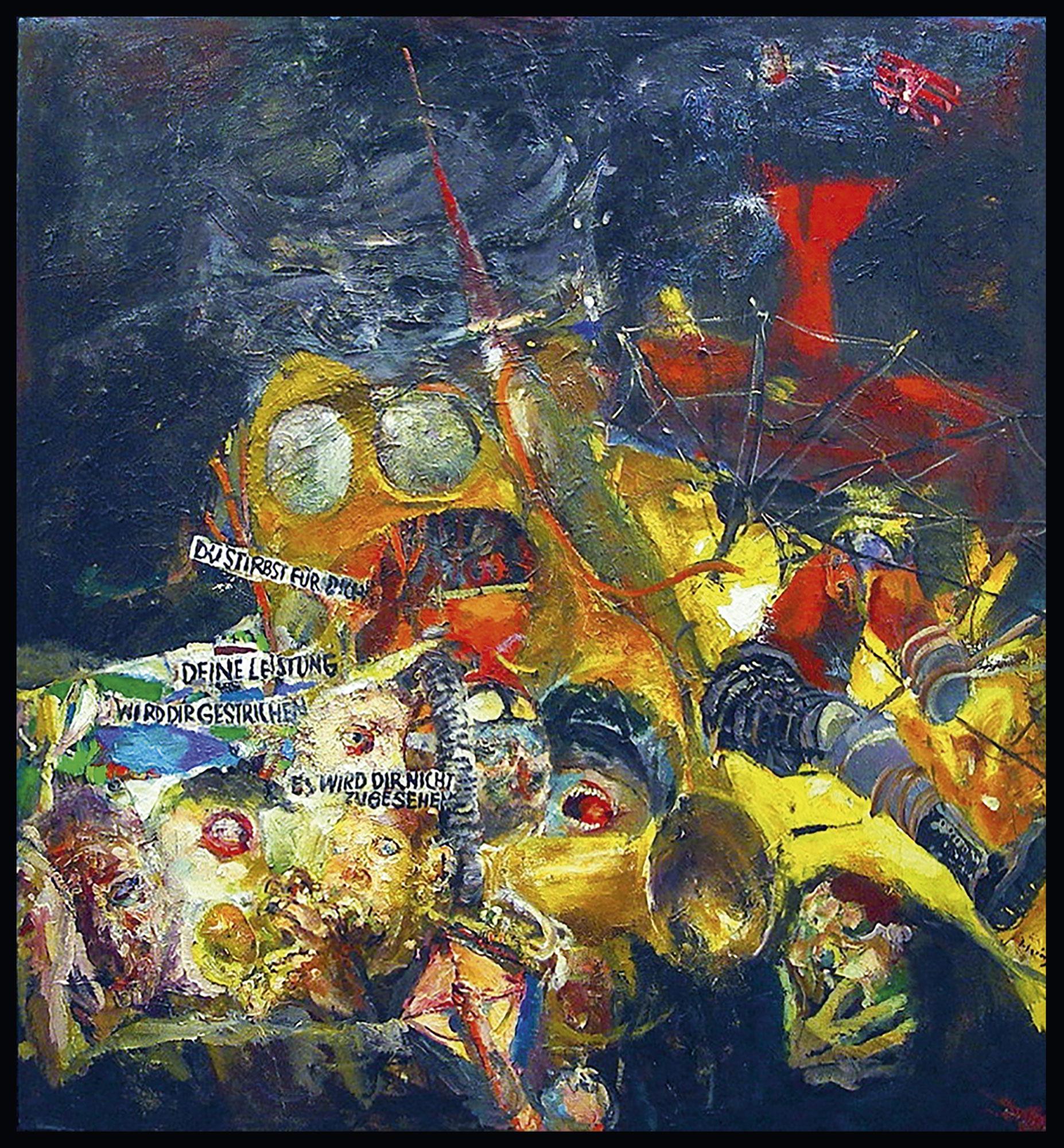 """Bild """"Der verbrauchte Ikarus"""" (1996) (Unikat)"""