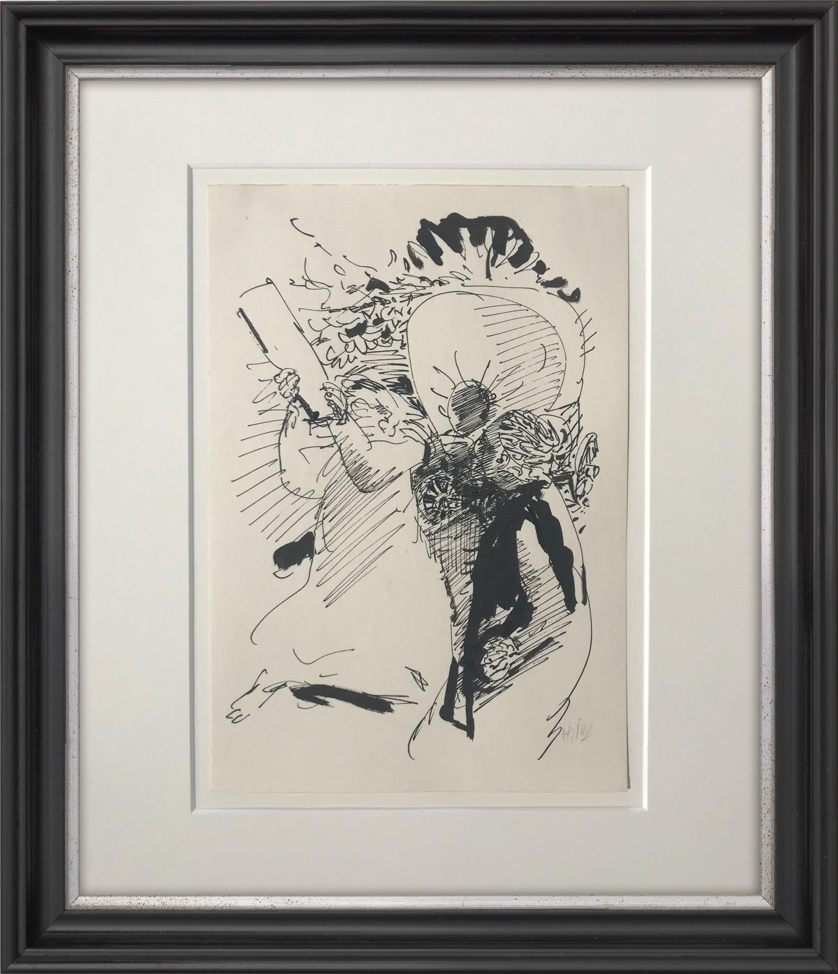 """Bild """"Zu Brecht: """"Mutter Courage und ihre Kinder"""" II"""" (1964) (Unikat)"""
