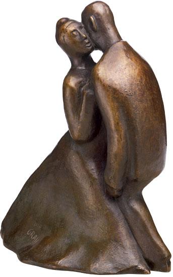 """Skulptur """"Blues"""" (2002), Bronze"""