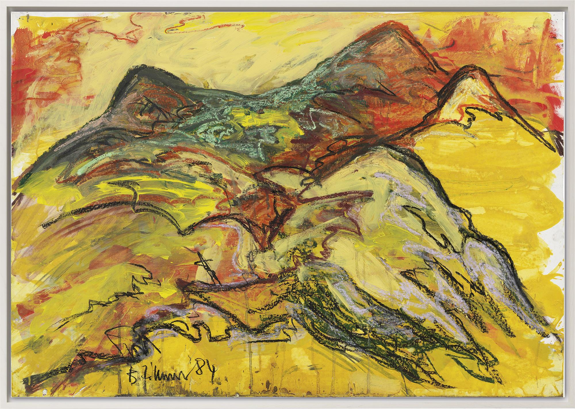 "Bild ""Berge I"" (1984) (Unikat)"