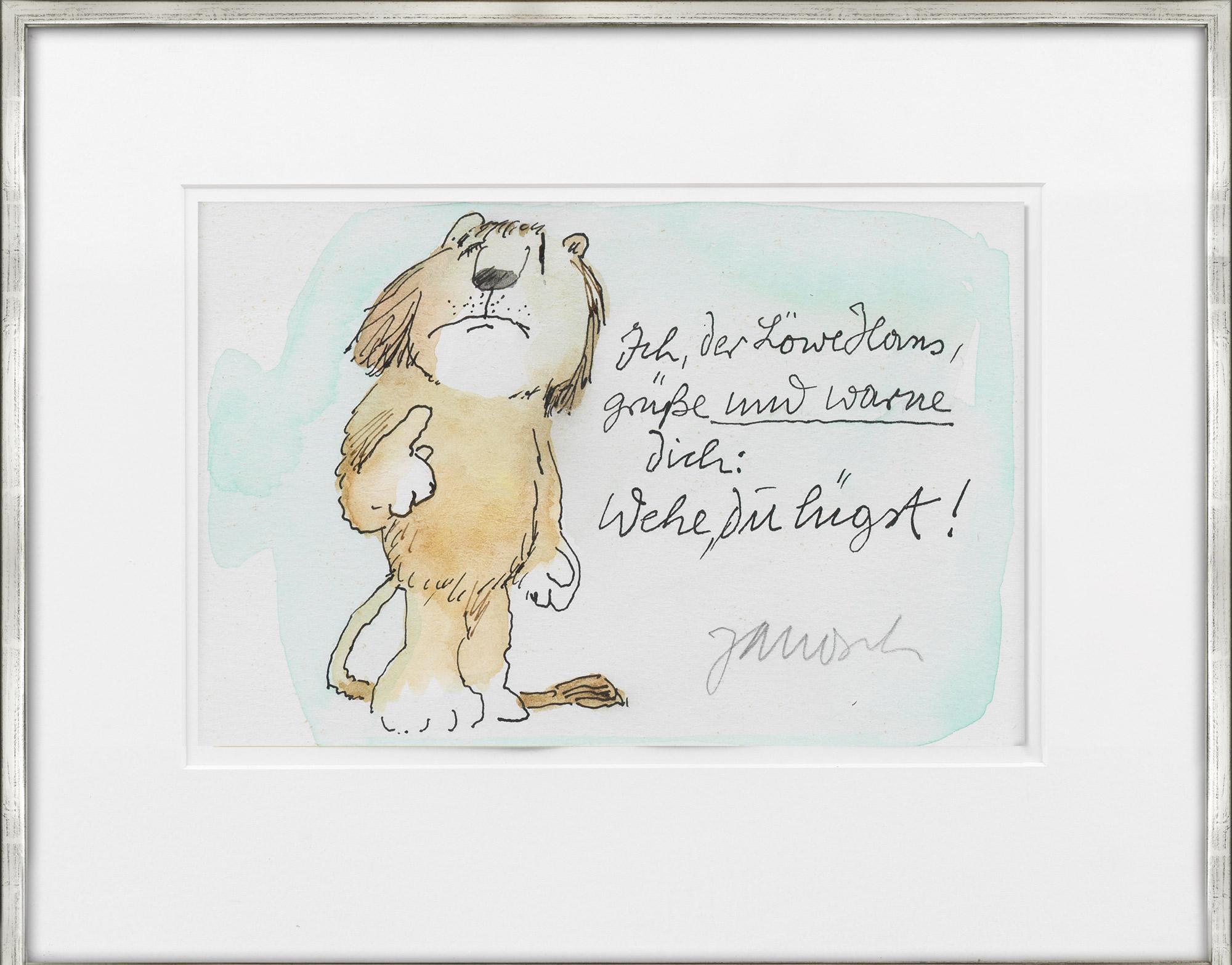 """Bild """"Ich der Löwe"""" (Unikat)"""