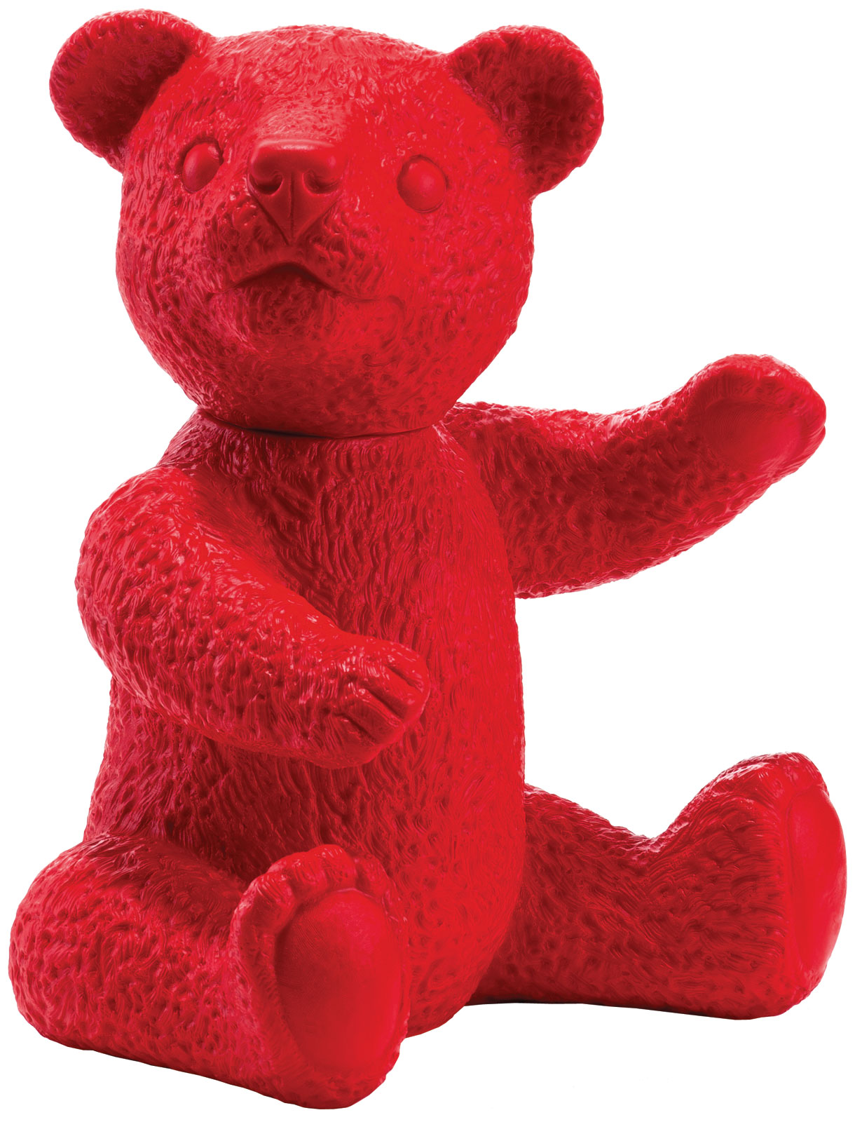 """Skulptur """"Teddy rot"""" (2007), signierte Version"""