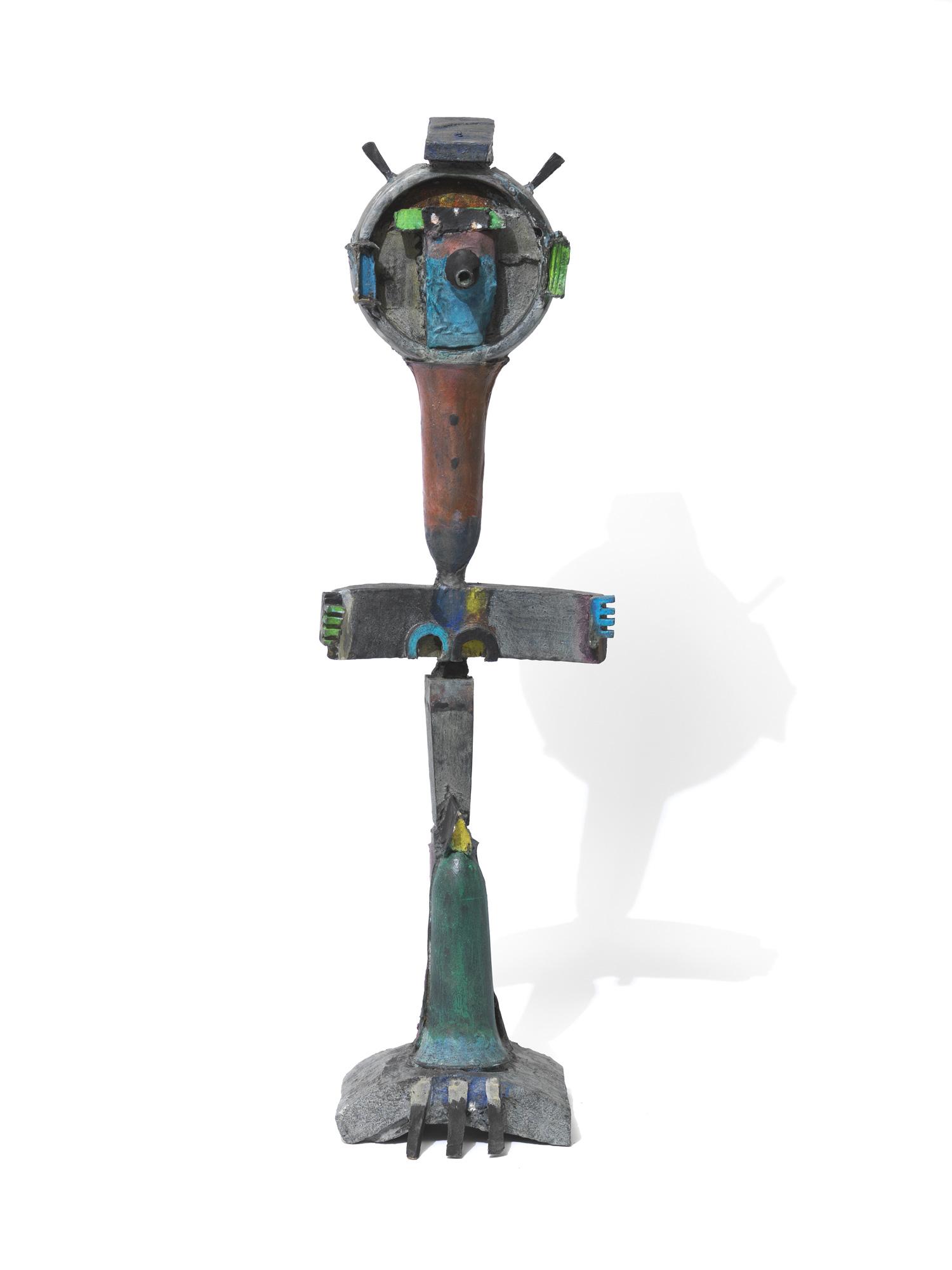 "Skulptur ""Strahlenfigur"" (2018) (Unikat), Bronze"