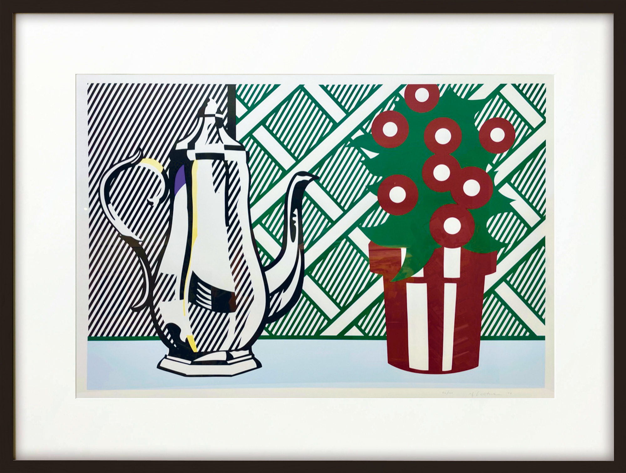 """Bild """"Still Life with Pitcher and Flowers"""" (1974)"""