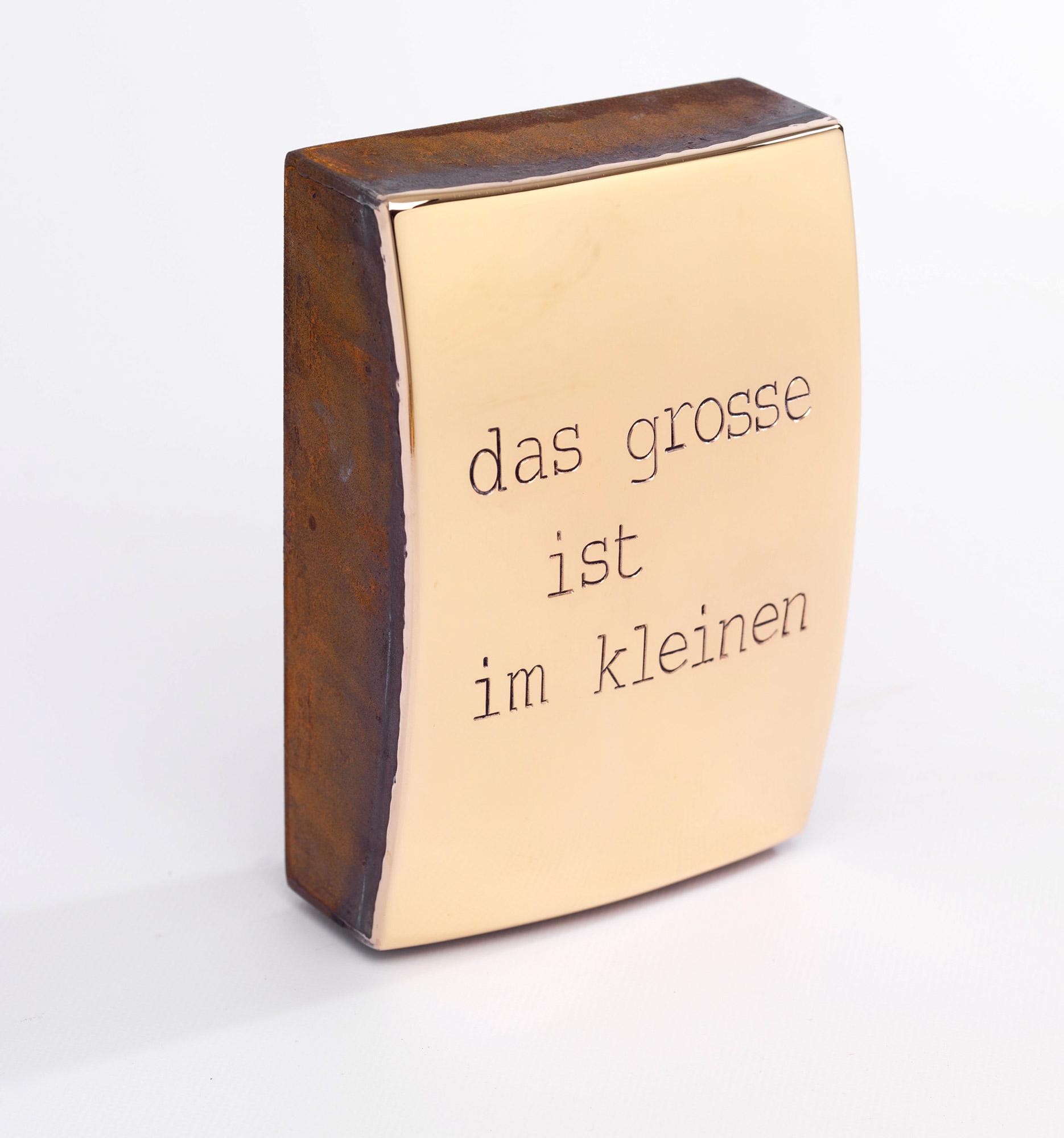 """Objekt """"das grosse ist im kleinen"""" (2020) (Unikat)"""