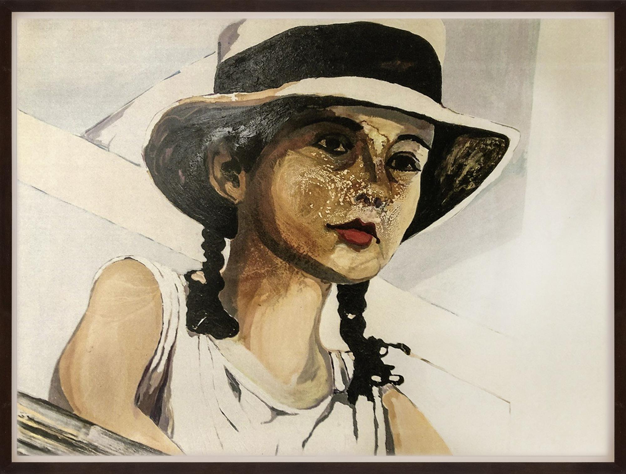 """Bild """"Mädchen mit Hut"""" (Unikat)"""