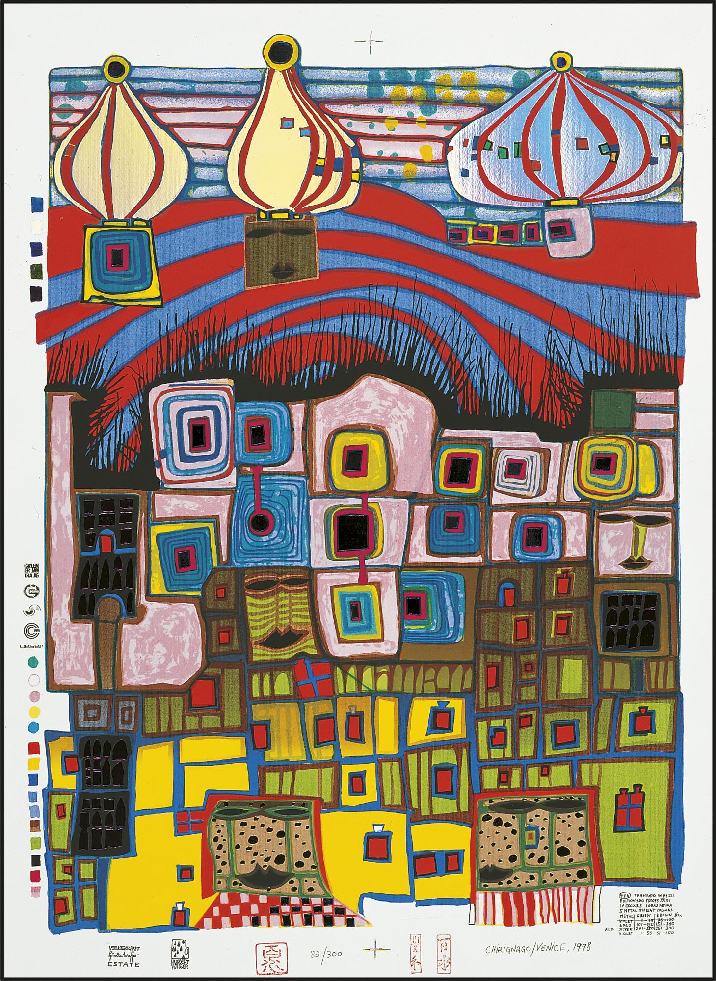 974 TRAMONTO IN PEZZI, ZERSTÜCKELTER SONNENUNTERGANG (1997) (Siebdruck)