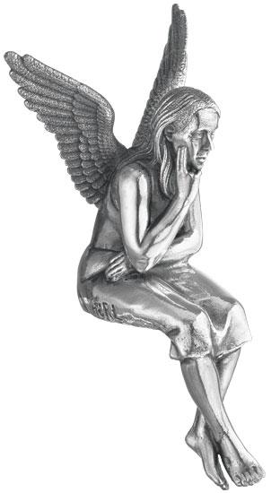 "Skulptur ""Schutzengel"", Version versilbert (ohne Sockel)"