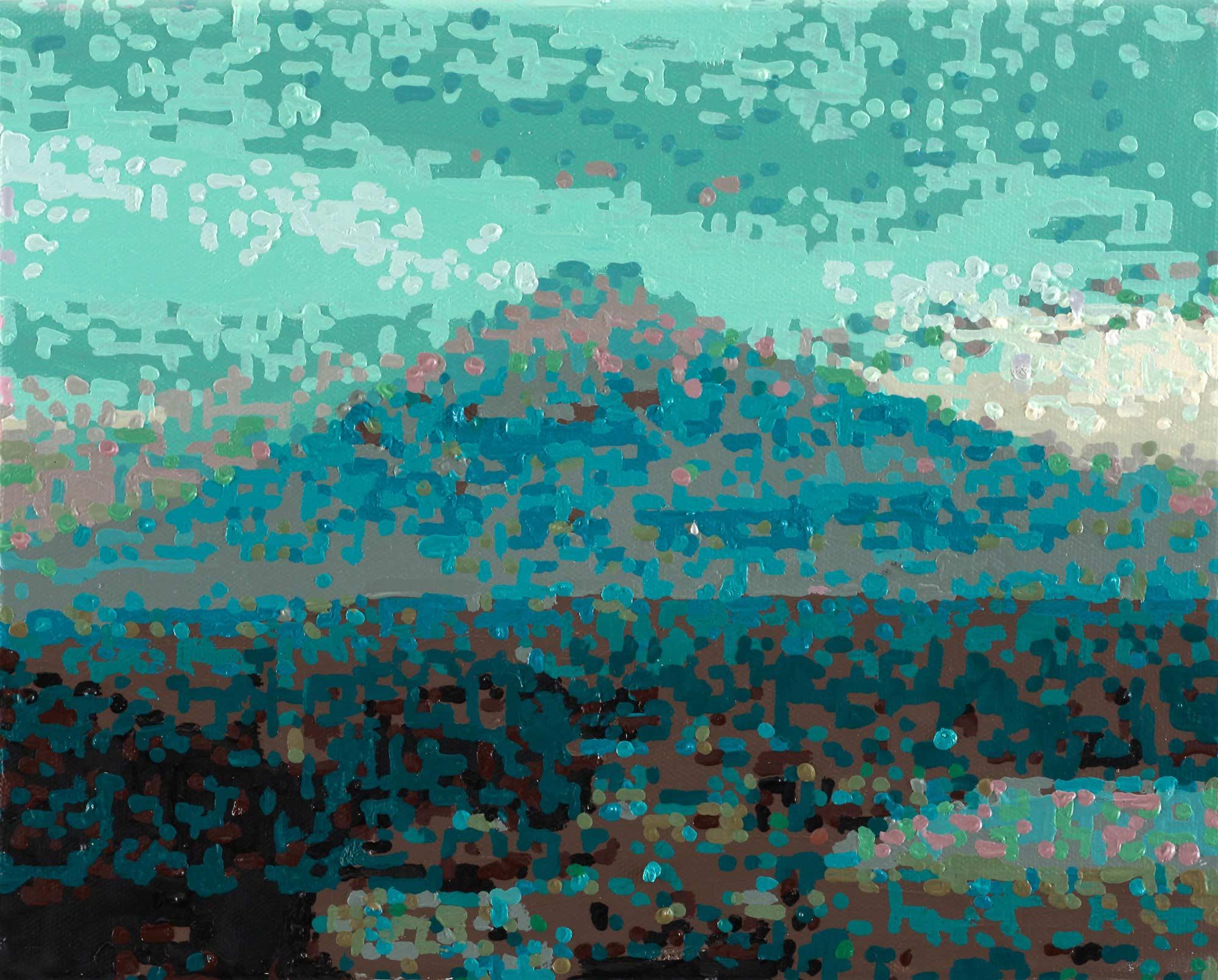 """Bild """"50 Ansichten des Berges Fuji_vom Zug aus betrachtet, Nr. XXII"""" (2010) (Unikat)"""