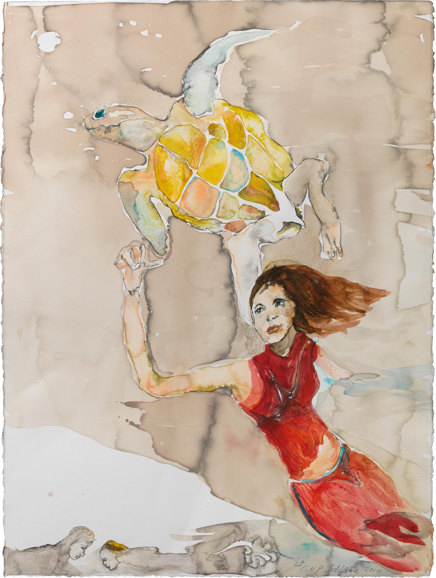 "Bild ""Schildkröte (rot) II"" (2010) (Unikat)"