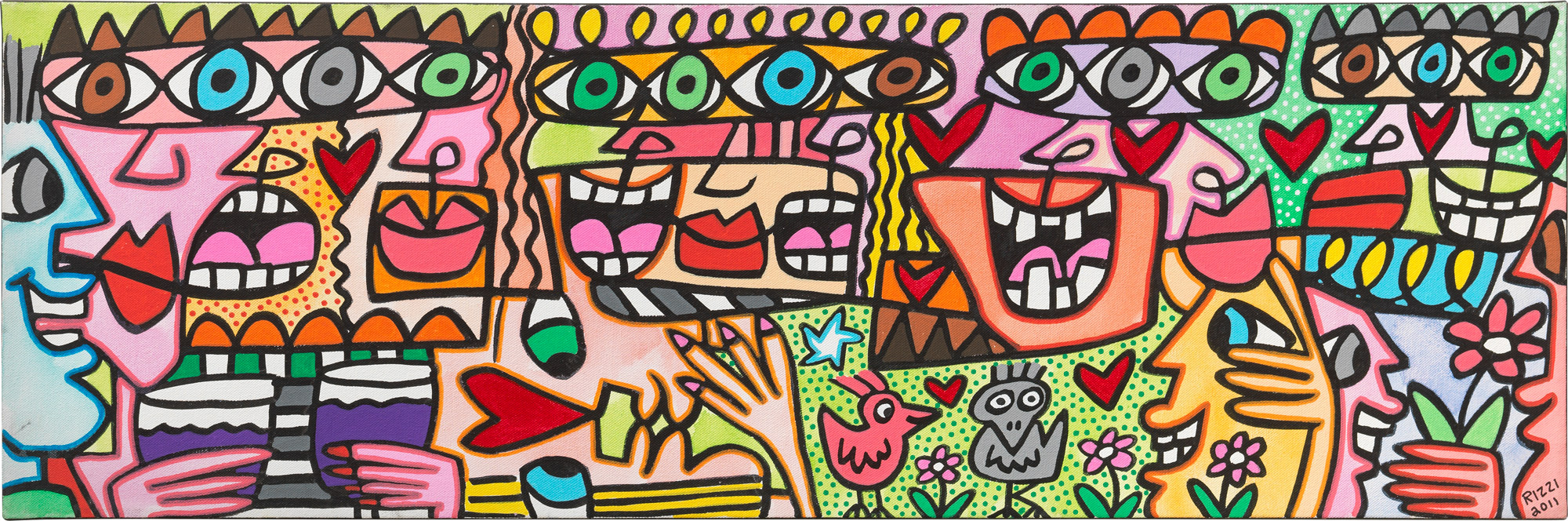 """Bild """"Let's all have a jolly good time"""" (2011) (Unikat)"""