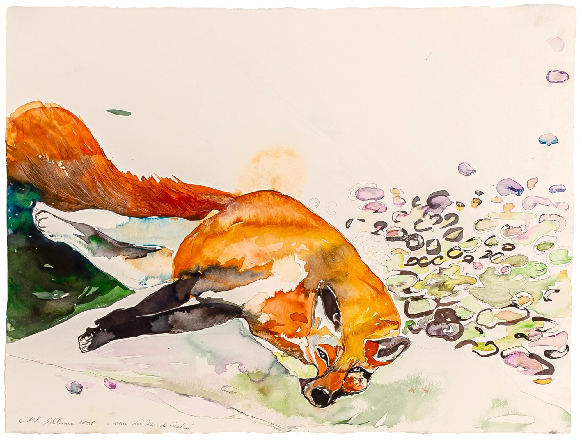 "Bild ""Wenn die Hunde heulen (821)"" (2005) (Unikat)"