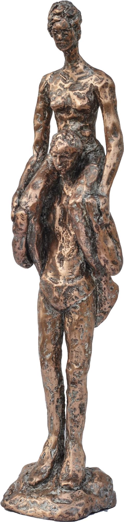"""Skulptur """"Huckepack"""" (2017), Bronze"""