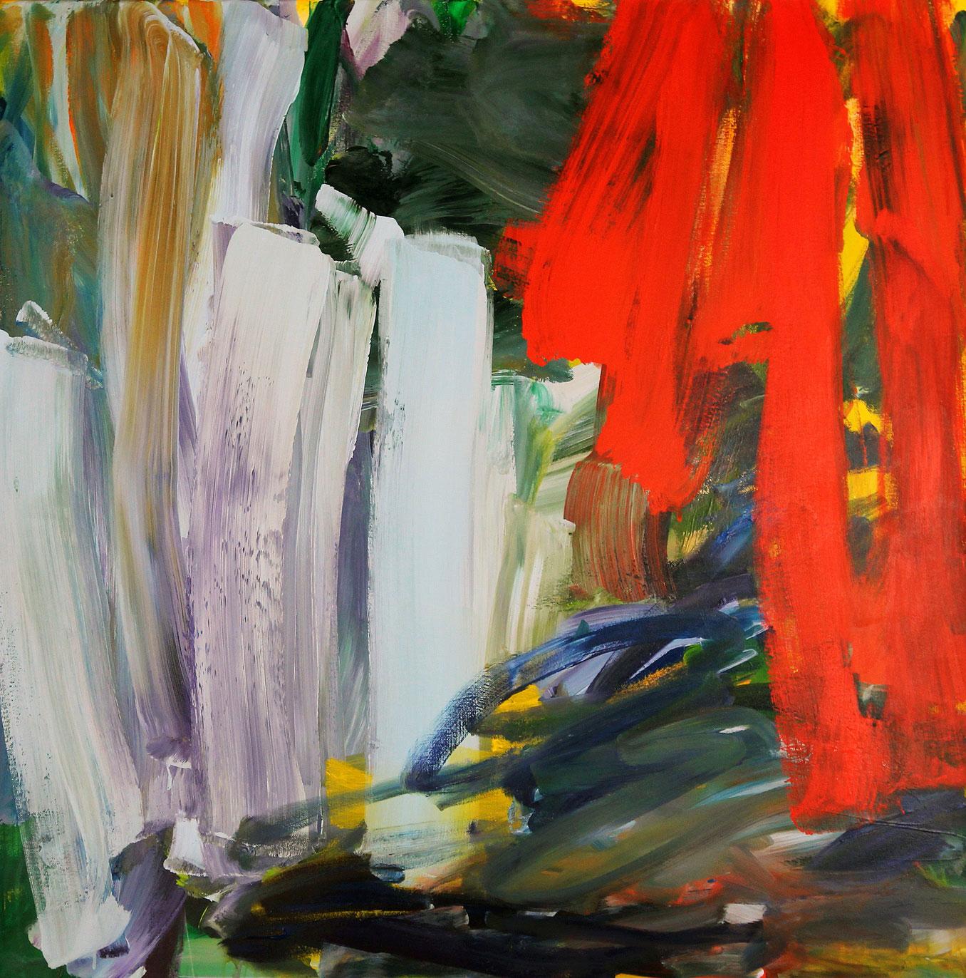 """Bild """"Abstrakt blau, rot"""" (2014) (Unikat)"""
