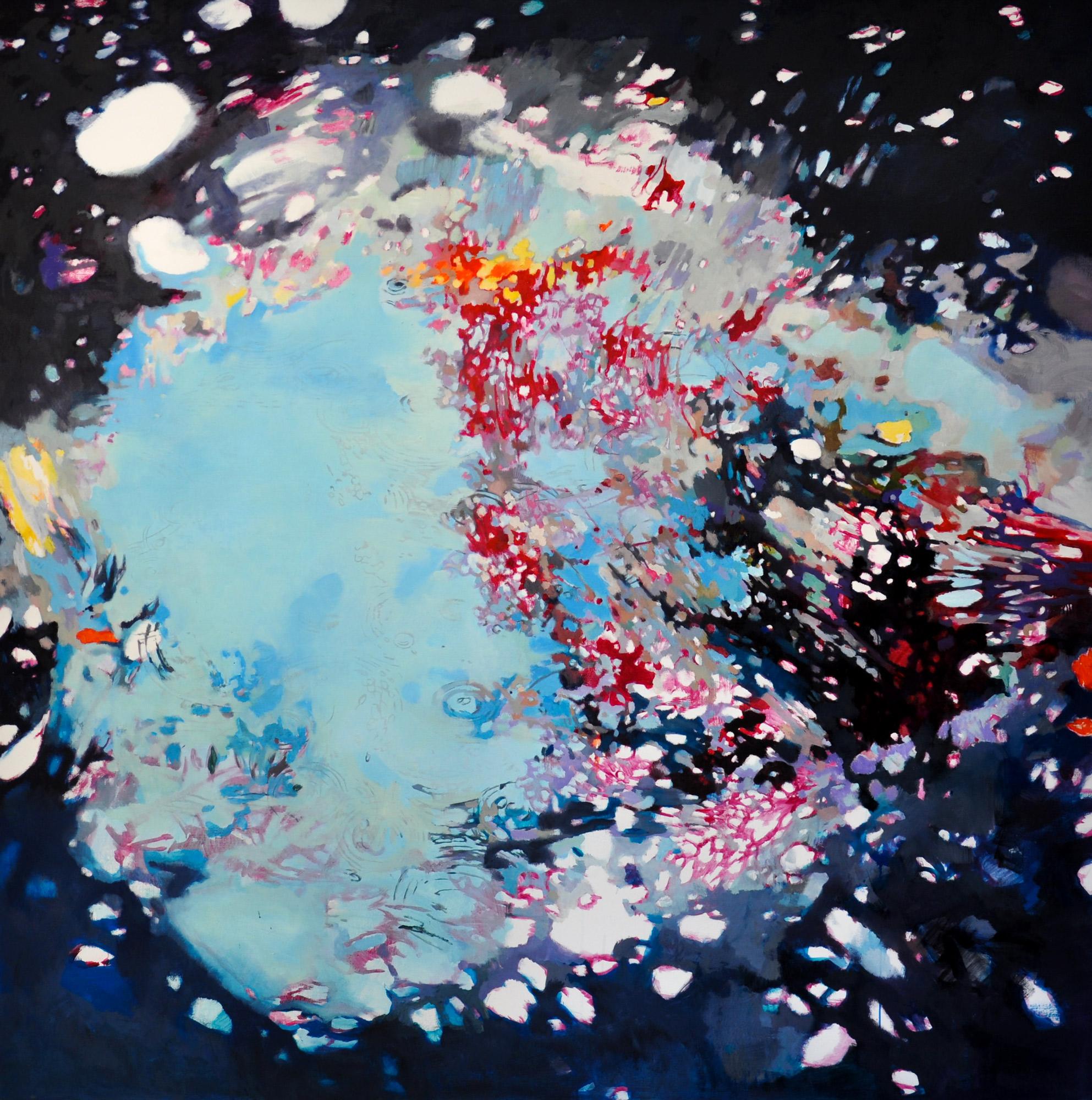"""Bild """"Blaue Pfütze (Universum)"""" (2010) (Unikat)"""