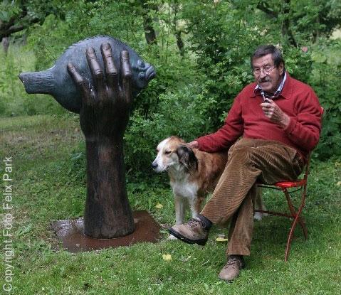 Porträt des Künstlers Günter Grass