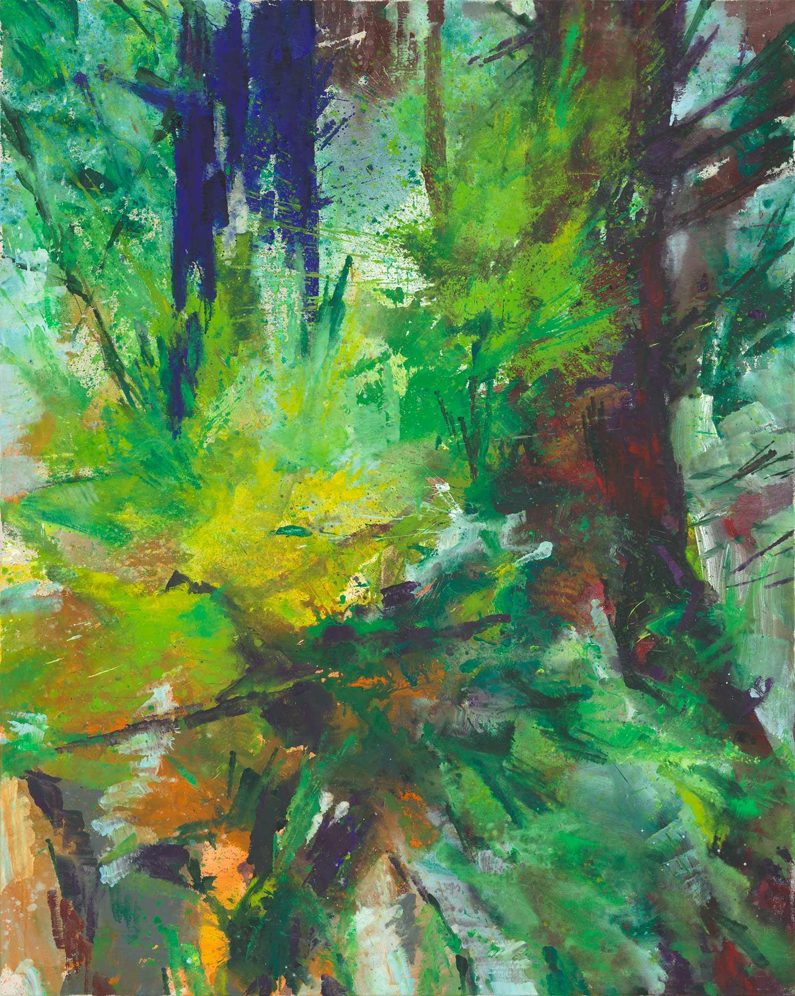 """Bild """"Blauer Baum II"""" (2014) (Unikat)"""