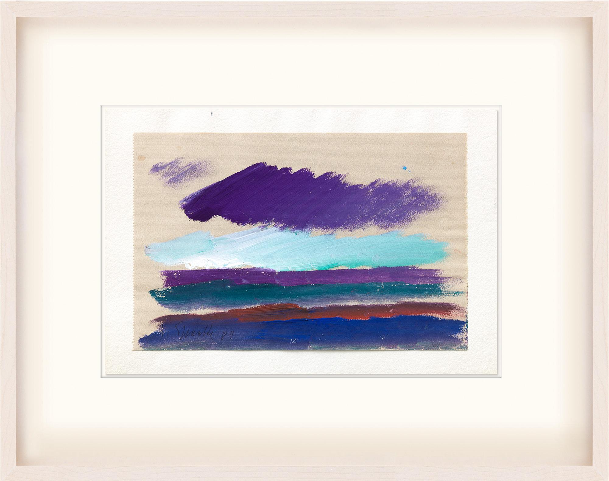"""Bild """"Farbfolgen schaffen Landschaft"""" (1987) (Unikat)"""