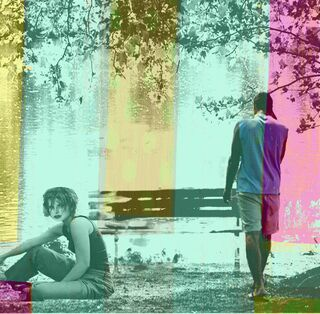 """Bild """"Transparency, Young Couple at the water"""" (2011)"""