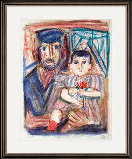 """Bild """"Hafenarbeiter mit Kind"""" (1968)"""