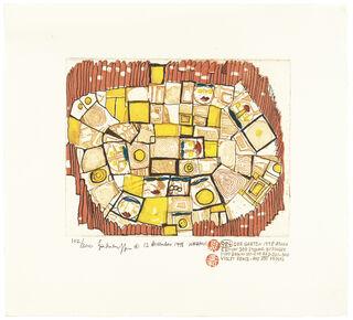 984 DER GARTEN, THE GARDEN, LE JARDIN (rot) (1998) (Farbradierung)
