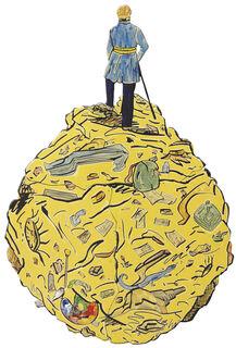 """Wandobjekt """"Kosmischer Staub (nach C. D. Friedrich)"""" (2010) (Unikat)"""