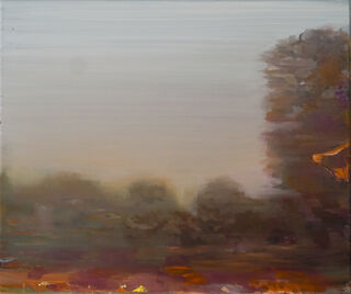 "Bild ""rote Landschaft"" (2018) (Unikat)"