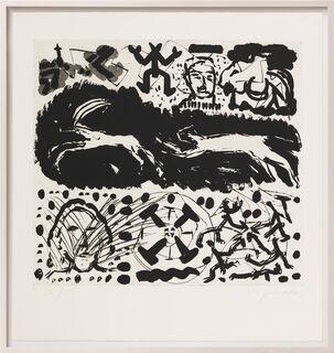 """Bild """"Was einem Emigranten durch den Kopf geht - Tafel IV"""" (1987) (Unikat)"""