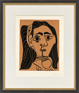 """Bild """"Femme aux cheveux flous (Jacqueline au bandeau)"""" (1962)"""