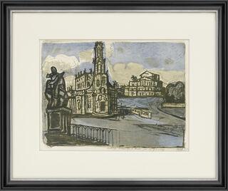 "Bild ""Hofkirche in Dresden (1955)"
