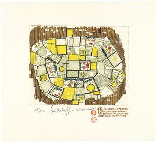 984 DER GARTEN, THE GARDEN, LE JARDIN (braun) (1998) (Farbradierung)
