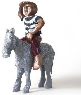 "Skulptur ""mannpferd"" (2010), Bronze"