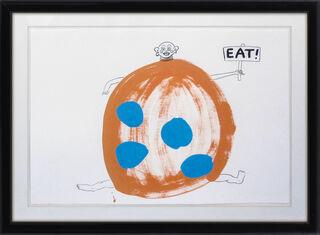 "Bild ""EAT"" (1988) (Unikat)"