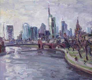"""Bild """"Nachmittags auf der Mainbrücke"""" (2017) (Unikat)"""