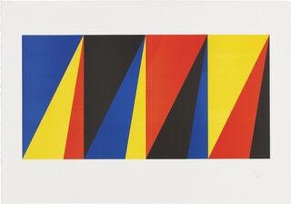 """Bild """"Vier gleiche Farbquanten"""" (1973)"""