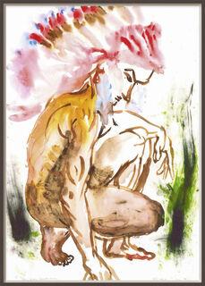 "Bild ""Markus Indian"" (1992) (Unikat)"