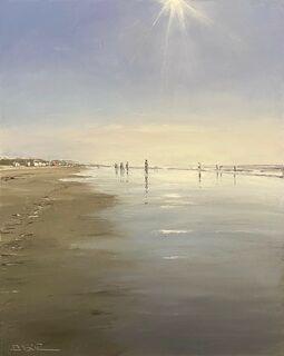 """Bild """"Gegenlicht am Strand, Sylt"""" (2021) (Unikat)"""