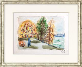 """Bild """"Bäume am Untersee II"""" (1950er Jahre)"""