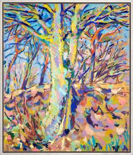 """Bild """"Die Eiche am Hügel"""" (1984) (Unikat)"""