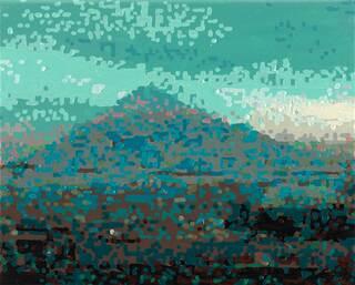 """Bild """"50 Ansichten des Berges Fuji_vom Zug aus betrachtet, Nr. XVII"""" (2010) (Unikat)"""
