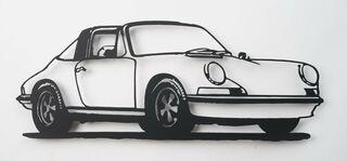 """Wandobjekt """"Porsche 911 Targa (schwarz)"""" (2021) (Unikat)"""