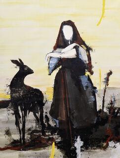 """Bild """"Girl with Deer"""" (2020) (Unikat)"""