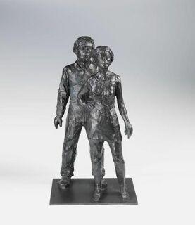 """Skulptur """"Paar"""" (2005), Bronze"""