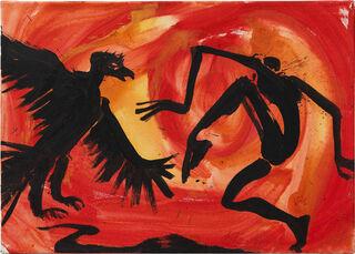 "Bild ""Meet the eagle (M 00 003)"" (2000) (Unikat)"