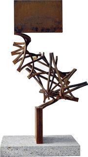 "Skulptur ""Drehung (breit)"" (2020), Stahl"