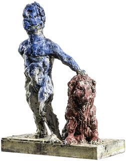 """Skulptur """"Löwe"""" (2018), Bronze"""