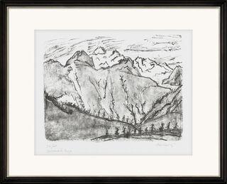 """Bild """"Verschneite Berge"""" (1967)"""