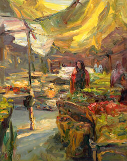 """Bild """"Eingang zum Markt (Kenia)"""" (2013) (Unikat)"""