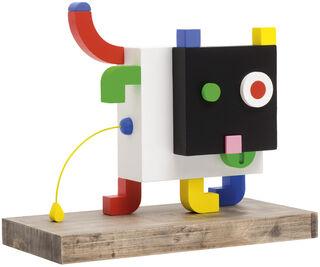 """Skulptur """"DOG"""" (2018), Holz"""